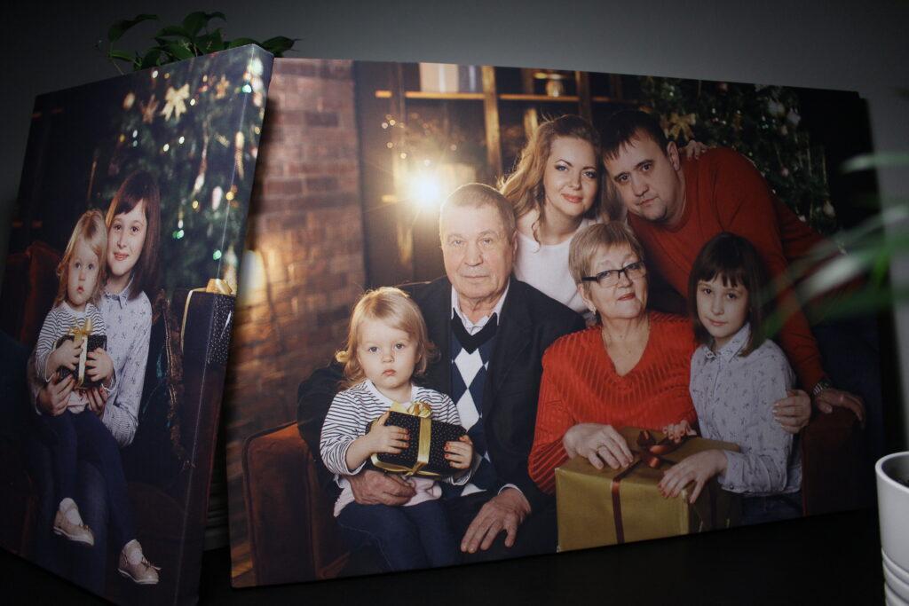 холст семья